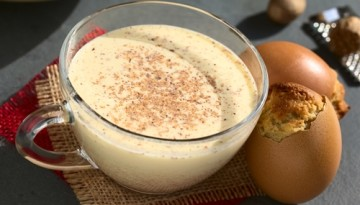 Instead of alcoholic drinks, serve non-alcoholic holiday drinks, like eggnog, at your holiday party.
