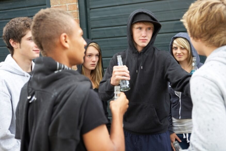 Teenagers are more influenced by their immediate friend group than by the majority of their peers.