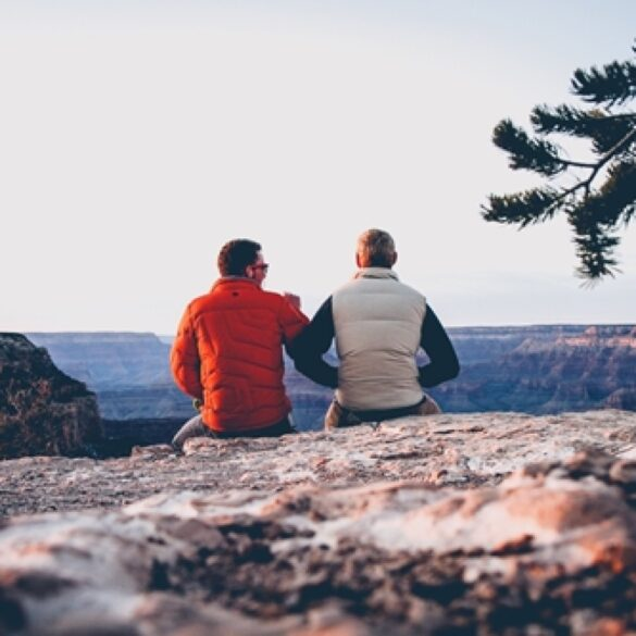 Hiking with a friend is one way to have fun on the weekend without alcohol.