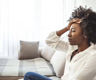 A woman needs help during mental health awareness month.